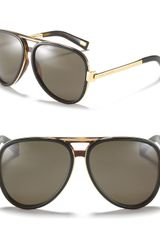 Marc Jacobs Metal and Plastic Aviator Sunglasses - Lyst