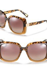 Marc Jacobs Oversized Square Havana Fade Sunglasses - Lyst