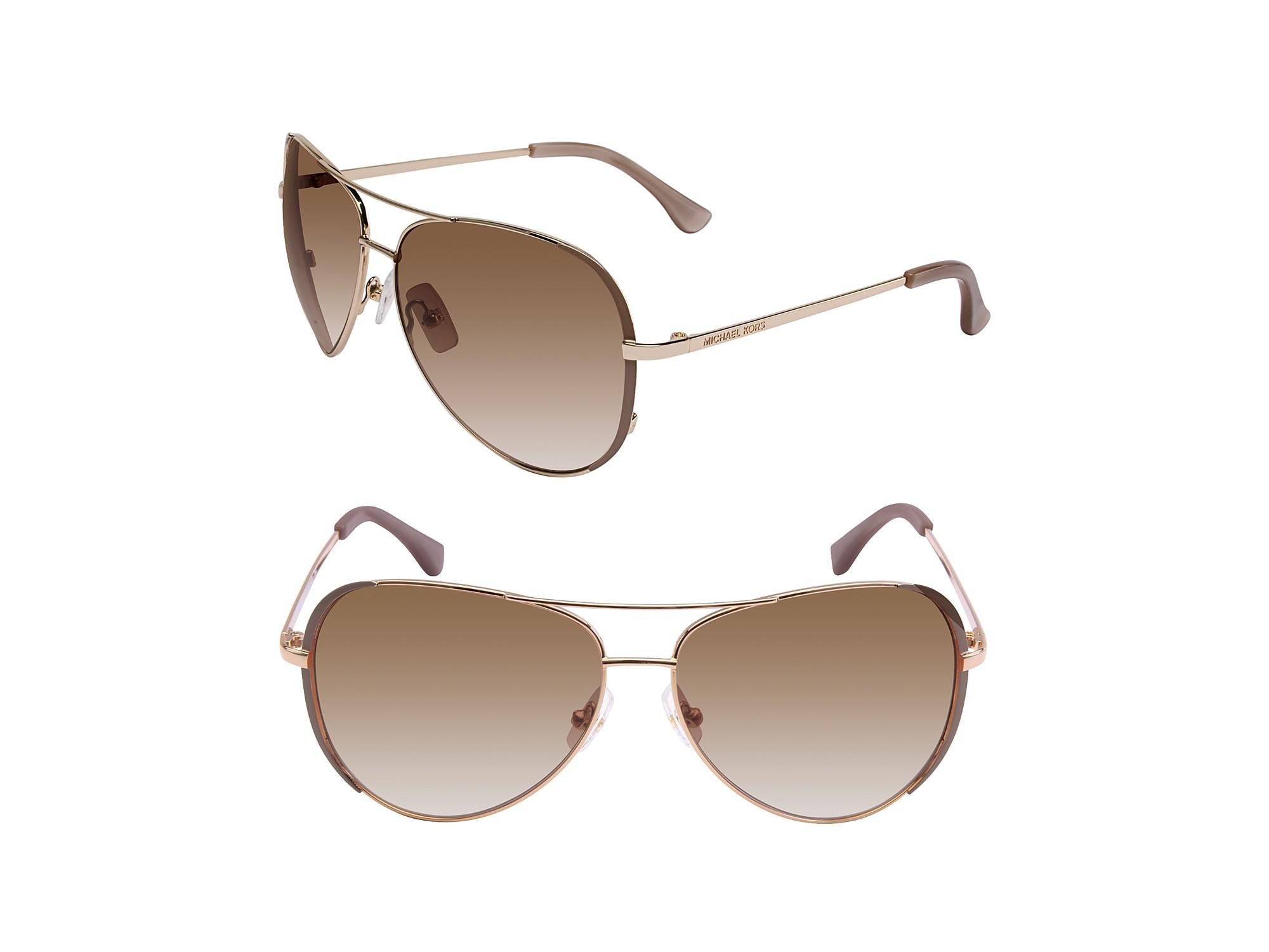 Michael Kors Sicily Sunglasses  michael kors michael sicily aviator sunglasses in gray lyst