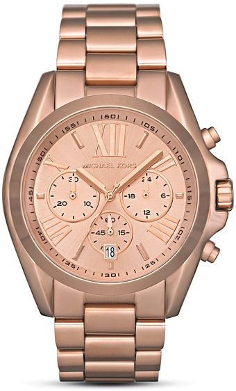 Michael Kors Michael Womens Rosegold Tone Watch 43mm - Lyst