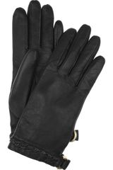 Mulberry Braidtrimmed Leather Gloves - Lyst