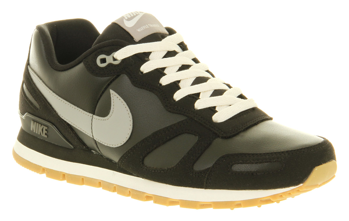 Nike Black Blue Air Waffle Trainers Mens Trainers Mens