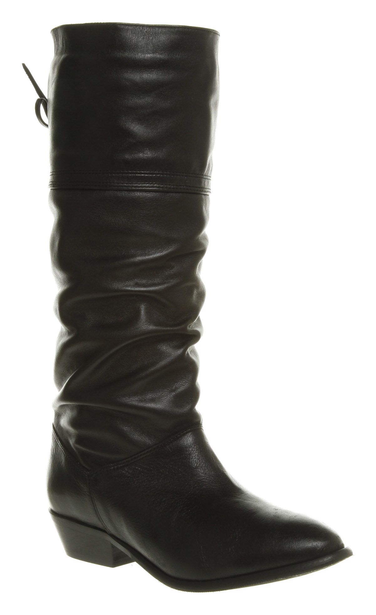 Office Jani Slouch Boot Black Leather in Black | Lyst