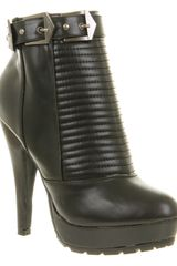 Office Naughty Biker Black Pu in Black - Lyst