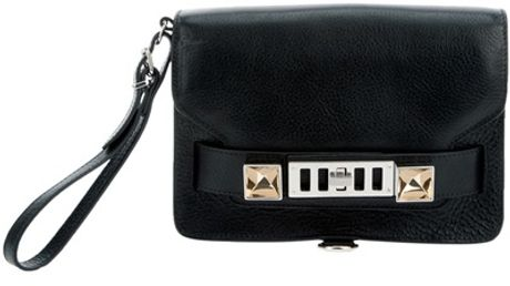 Proenza Schouler Ps11clutch Bag in Black - Lyst