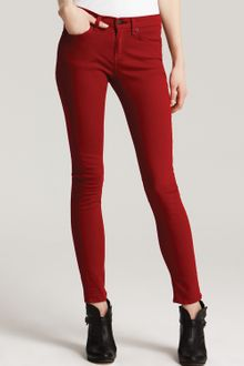 Rag & Bone Skinny Jeans High Rise in Red - Lyst