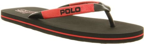 Ralph Lauren Canby Flip Flop Blkred Rubber in Brown for Men (red) - Lyst