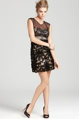 Sue Wong Mesh Dress  - Lyst
