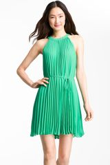 Ted Baker Pleated Chiffon Dress - Lyst