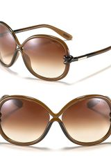 Tom Ford Sonja Round Oversized Sunglasses - Lyst