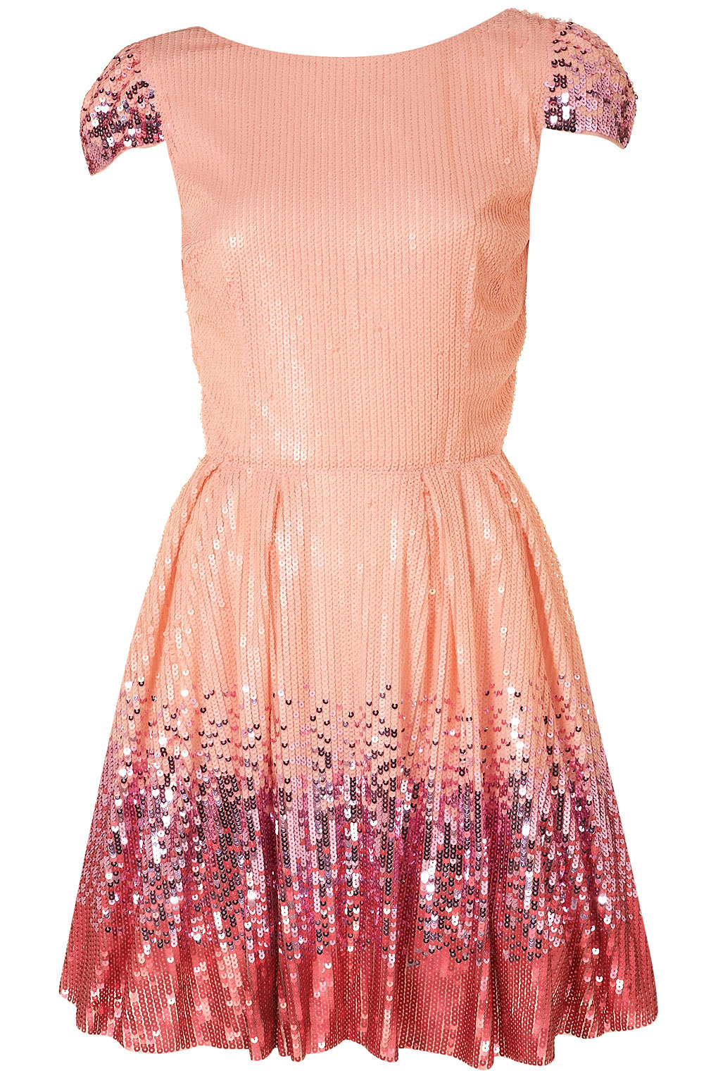 Lyst Topshop Ombre Sequin Prom Dress By Dress Up Topshop