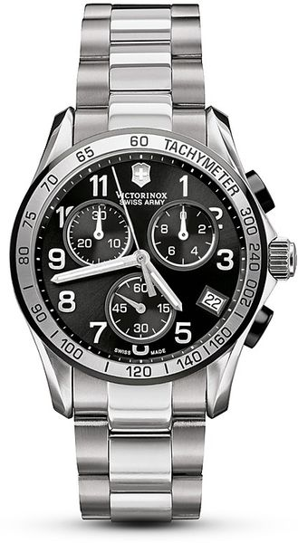 Victorinox Swiss Army Black Chrono Classic Watch 41mm in Black for Men - Lyst