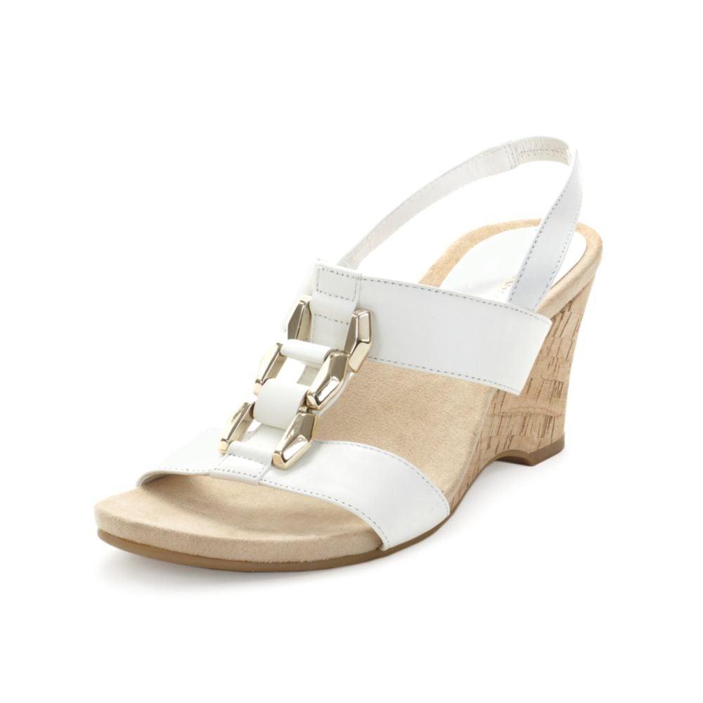 Anne Klein Custom Wedge Sandals In White Lyst