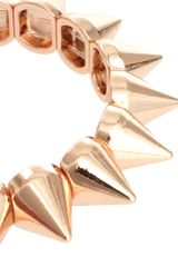 Asos Asos Spike Stretch Bracelet in Gold (copper) - Lyst