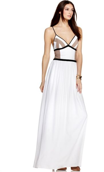 Bcbgeneration Sleeveless V- Neck Maxi Dress in White - Lyst