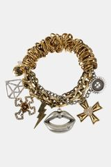 Betsey Johnson Black Label Stretch Charm Bracelet - Lyst