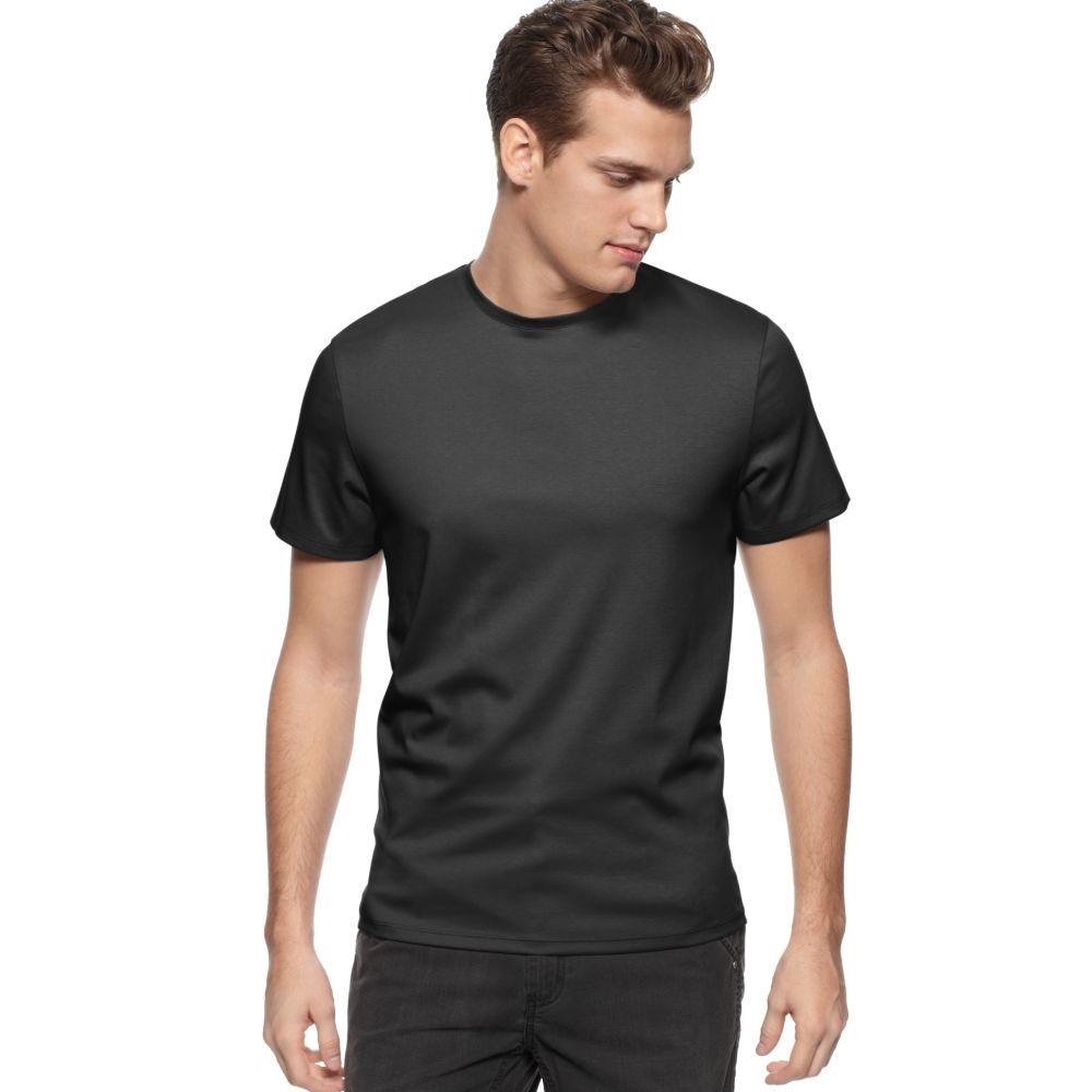calvin klein crew neck liquid t shirt in black for men lyst. Black Bedroom Furniture Sets. Home Design Ideas
