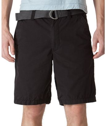 Calvin Klein Poplin Trouser Shorts with Belt - Lyst