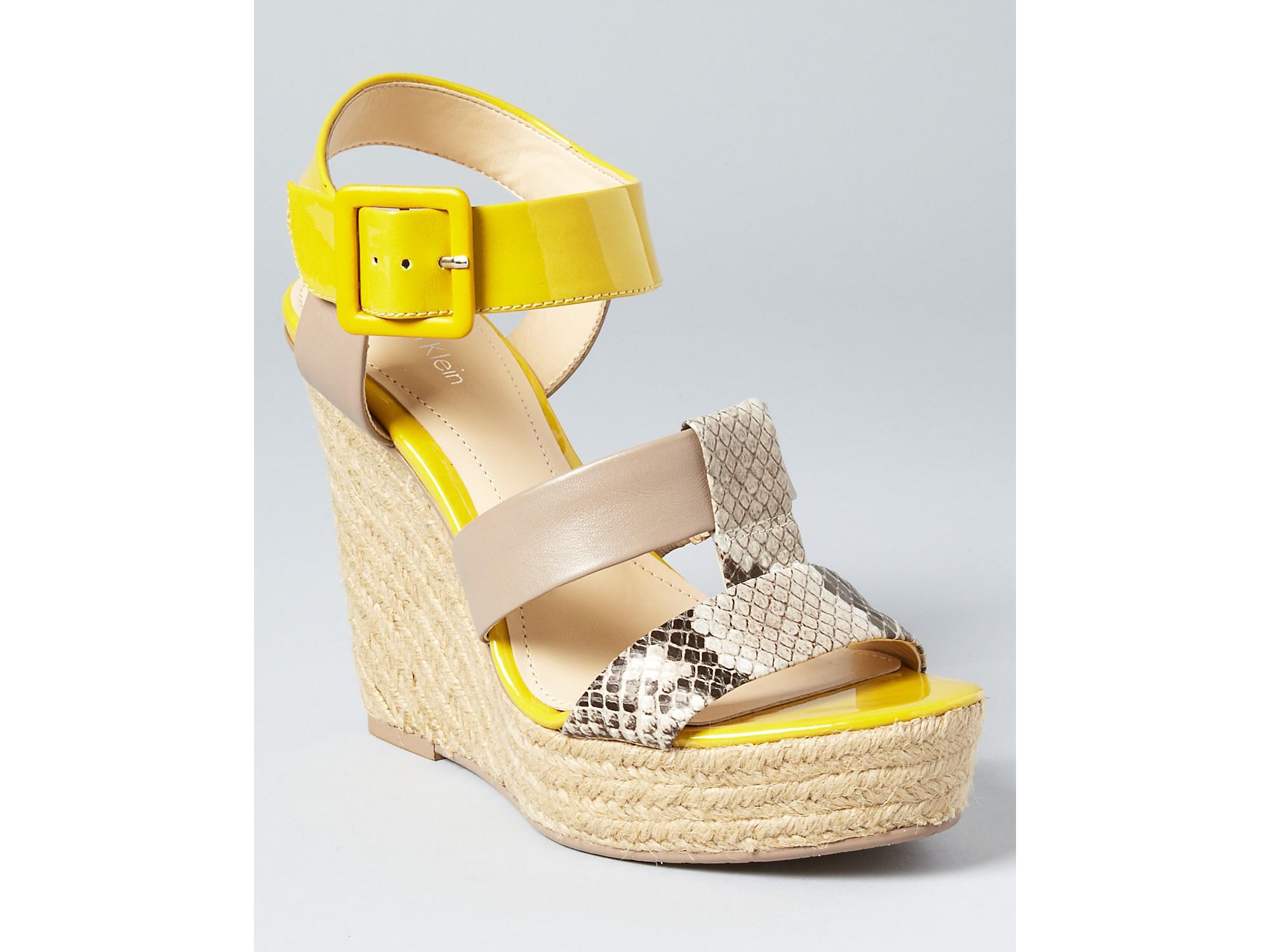 Womens Sandals Calvin Klein Ellison Natural/Light Taupe