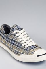 Converse Jack Purcell Lp Ox Plaid Sneakers - Lyst