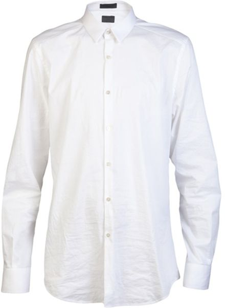 Costume National Classic Dress Shirt in White for Men - Lyst