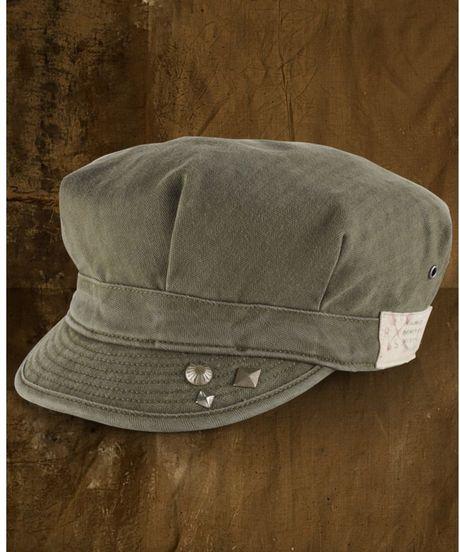 Denim supply ralph lauren military cap in khaki for men for Ralph lauren khaki paint