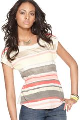 Dkny Short Sleeve Printed Scoop Neck in Pink - Lyst