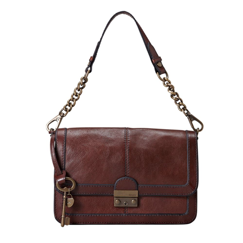 Lyst - Fossil Vintage Reissue Leather Flap Bag in Brown 3237ecc321047