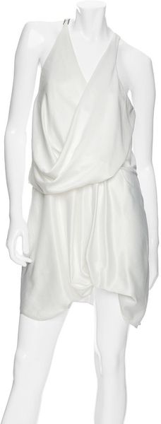 Helmut Lang Preview Exclusive Twisted Silk Dress - Lyst