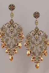Jose & Maria Barrera Brass Copper Chandelier Earrings - Lyst
