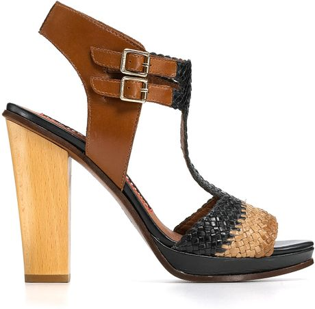 Juicy Couture Sandals Crista Woven Chunky Heel In Black Lyst