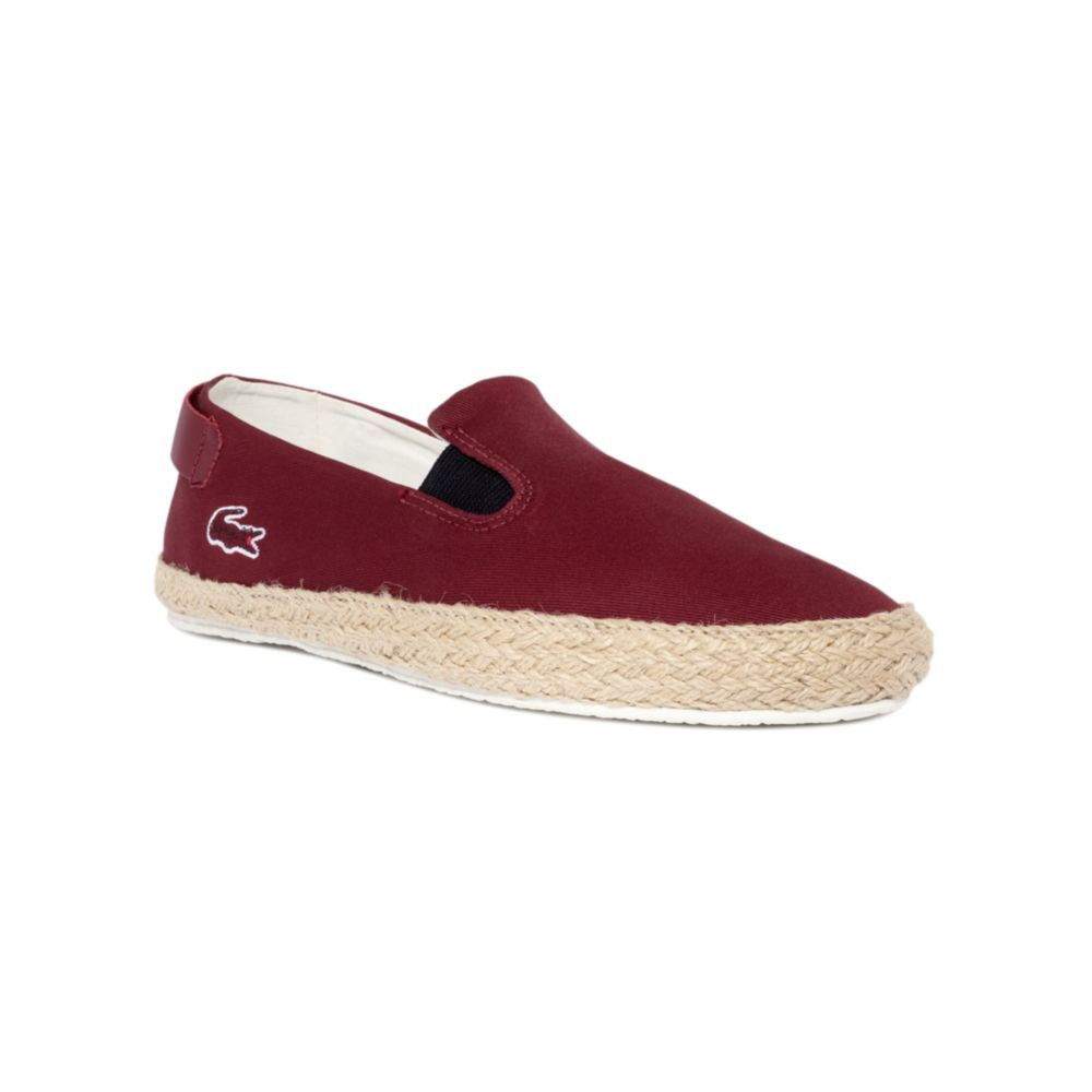 Lacoste Otay Espa Slip Ons in Brown for Men