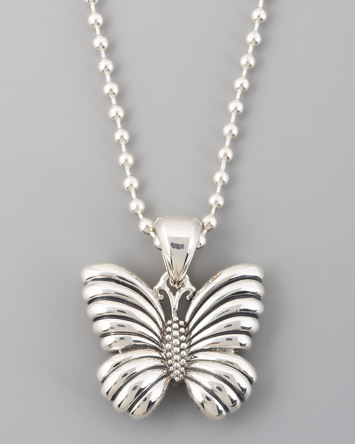 Lagos Rare Wonders Butterfly Pendant Necklace In Metallic