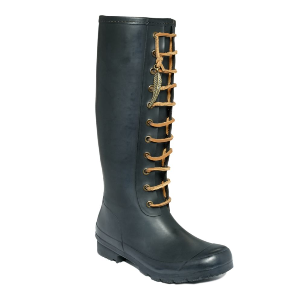 Lucky brand Orland Rain Boots in Black | Lyst
