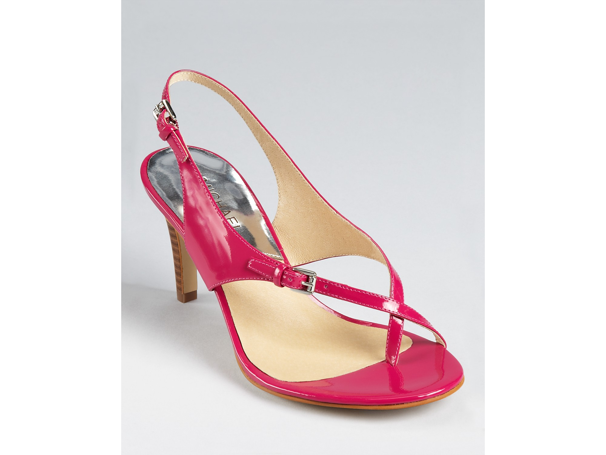 michael kors michael sandals eleni in pink lacquer pink