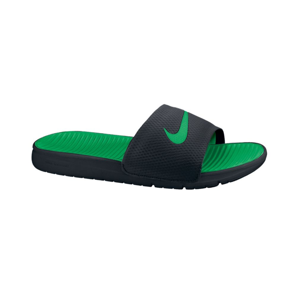 Nike Benassi Solarsoft Slides In Black For Men Black