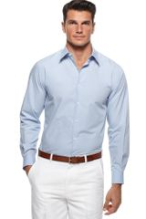 Perry Ellis Long Sleeve Woven Shirt - Lyst