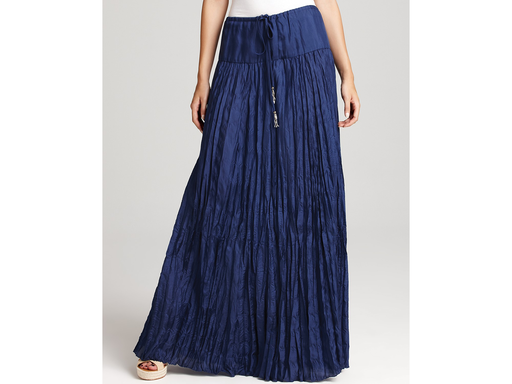 plenty by tracy reese quotation skirt crinkled circle maxi