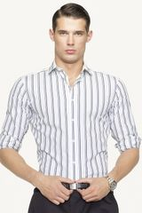 Ralph Lauren Black Label Sloan Stripe Cotton Poplin Sport Shirt Slim Fit Barrel Cuff - Lyst