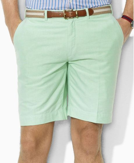 Ralph Lauren Preppy Oxford Shorts in Green for Men (course green) - Lyst