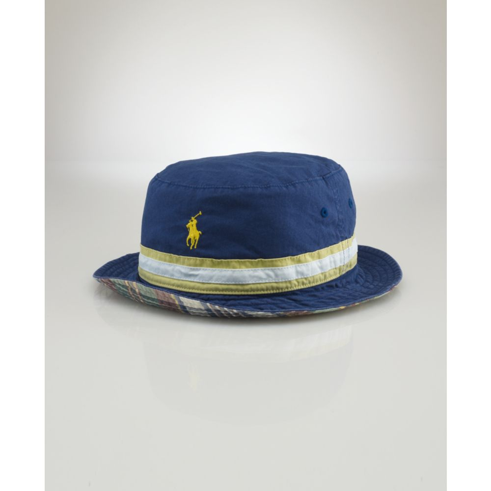 c14b61d4c4b Lyst - Ralph Lauren Beachside Reversible Bucket Hat in Blue for Men