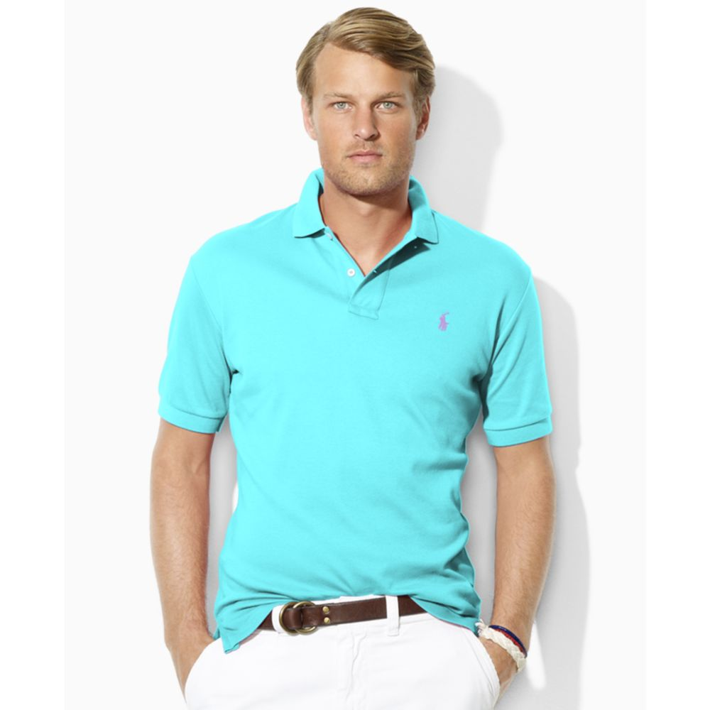 Lyst ralph lauren custom fit interlock polo shirt in Man in polo shirt