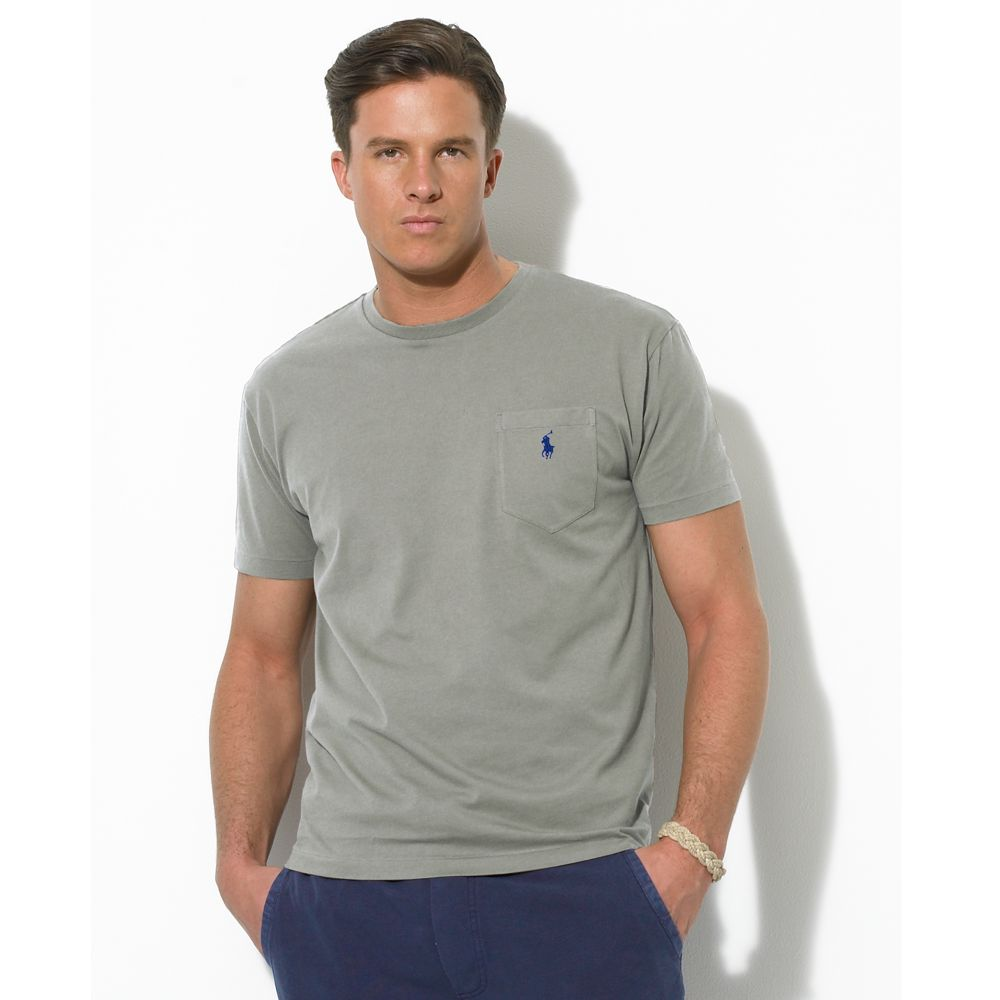 lyst ralph lauren core classic fit polo tee shirt in gray for men. Black Bedroom Furniture Sets. Home Design Ideas