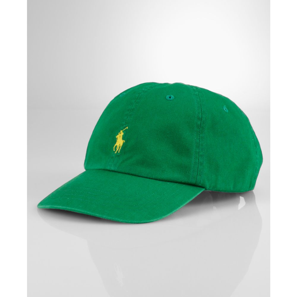 e7bea66d Ralph Lauren Classic Chino Sport Cap in Green for Men - Lyst