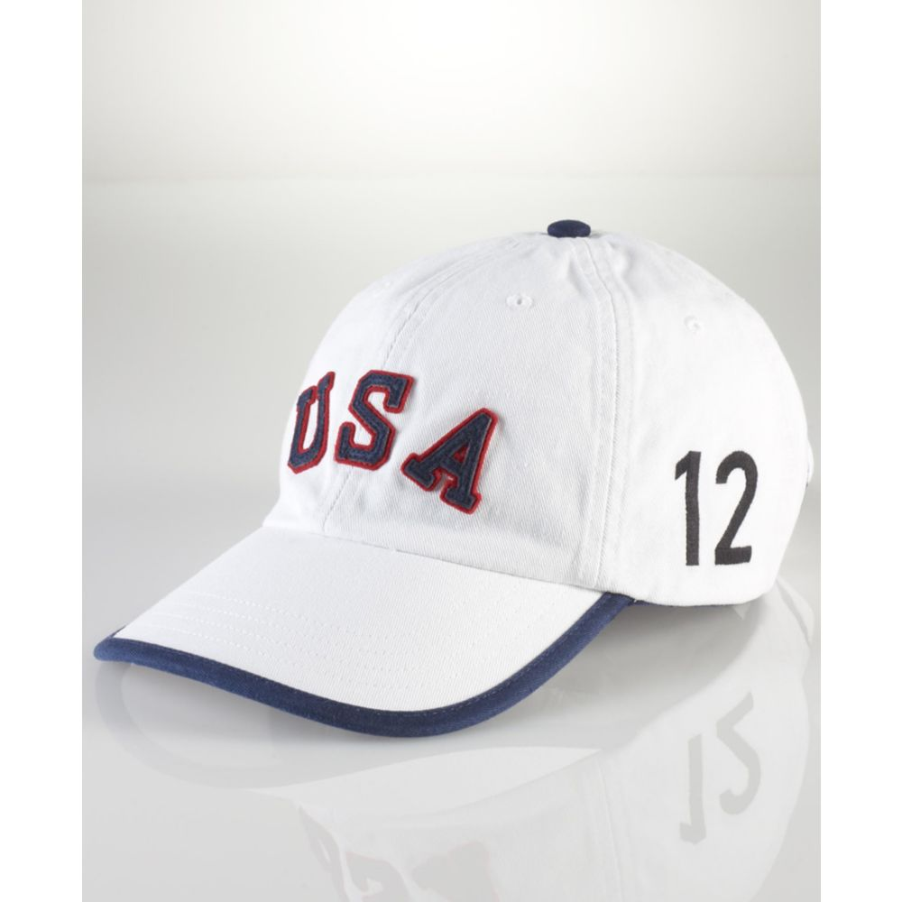 Lyst - Ralph Lauren Team Usa Olympic Sport Embroidered Cap in White ... 95a1e771620