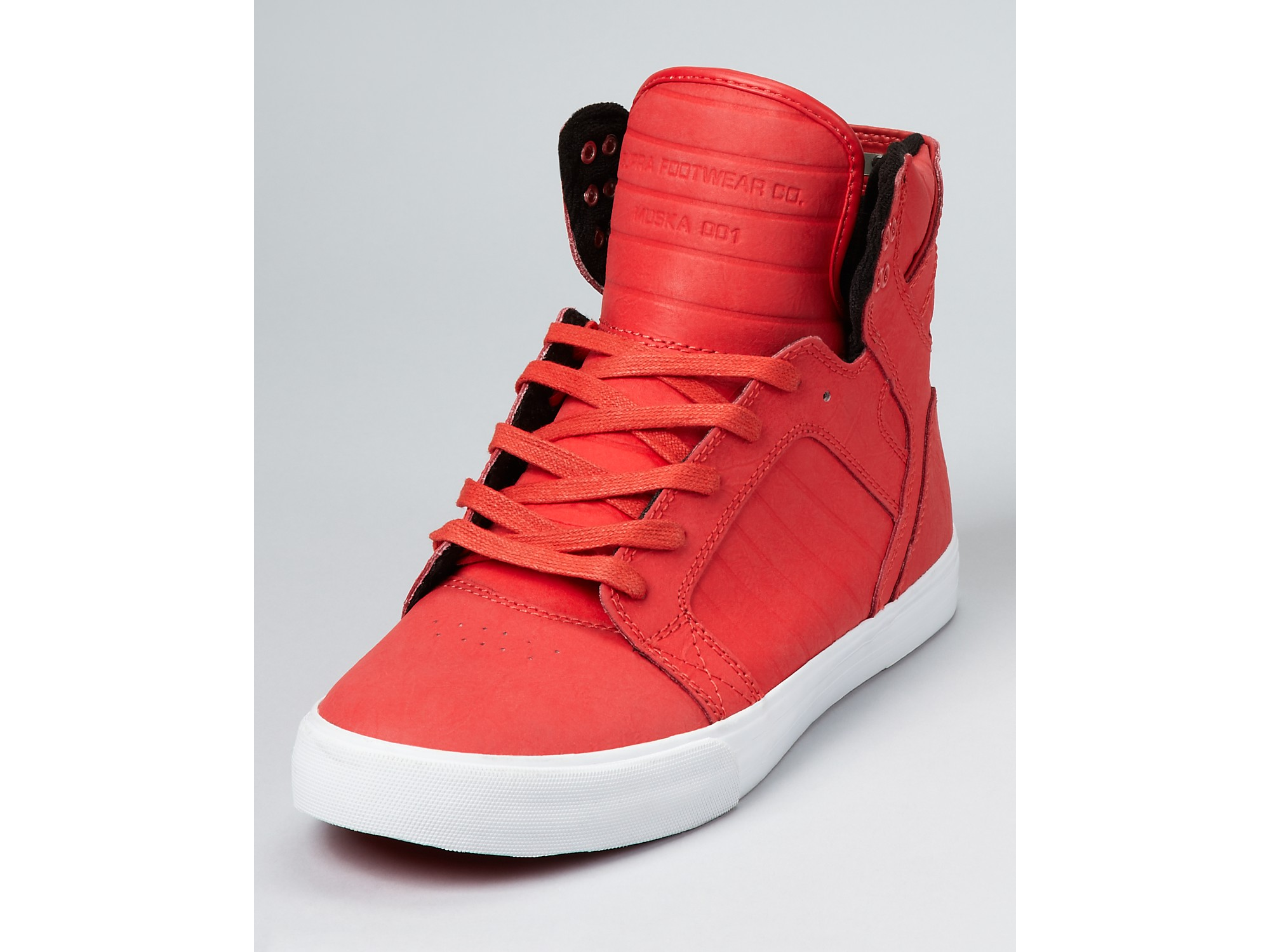 Lyst - Supra Skytop High Top Casual Sneakers in Red for Men 7c2f4d734