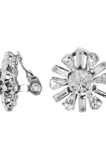 Swarovski Crystal Button Clip On Earrings - Lyst