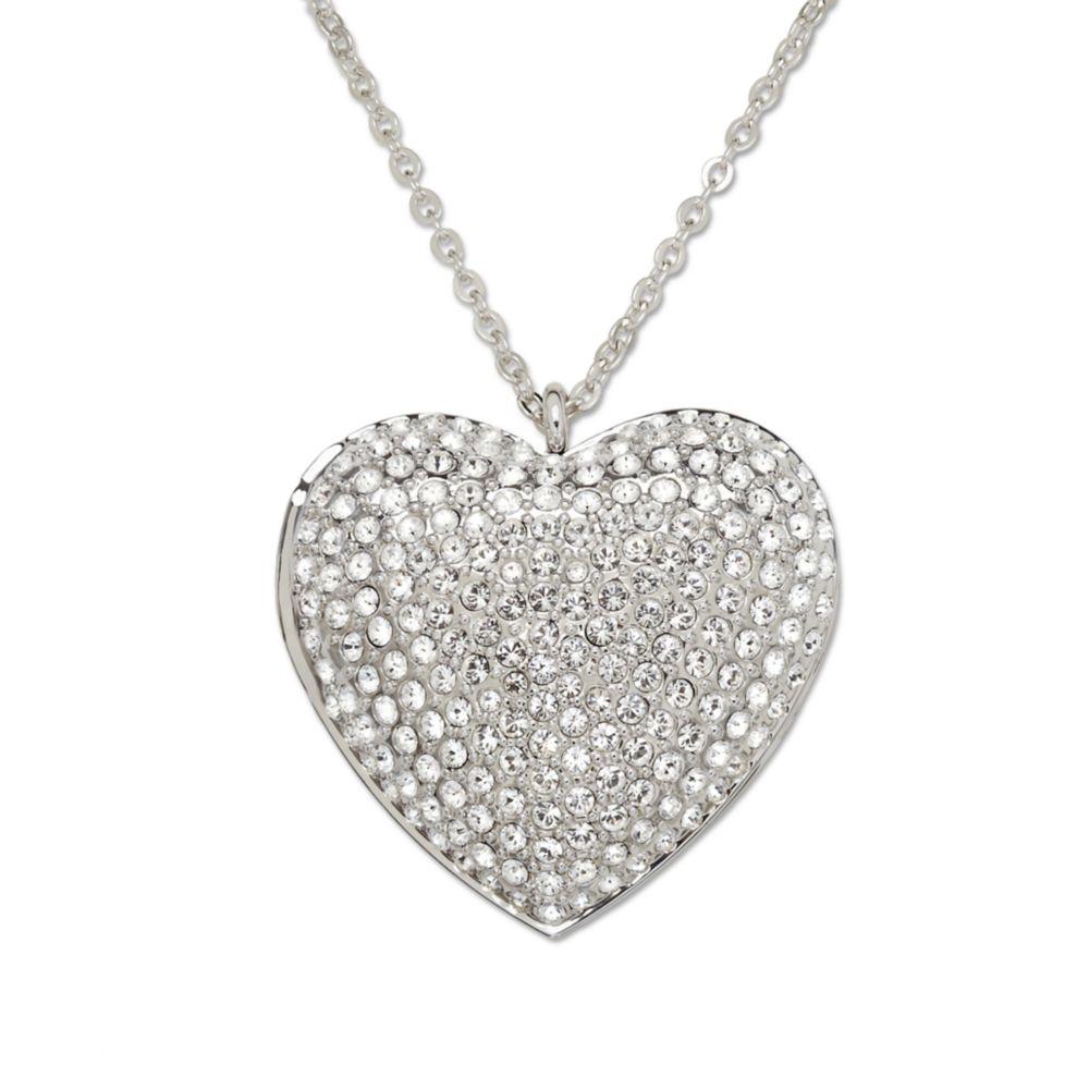 a81b4907c8c7a Swarovski Open Heart Crystal Pavé Pendant Necklace - Pendant Design ...