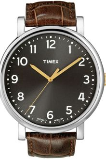 Timex® Originals Brown Leather Strap 42mm  - Lyst