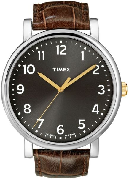 Timex® Originals Brown Leather Strap 42mm  in Brown - Lyst